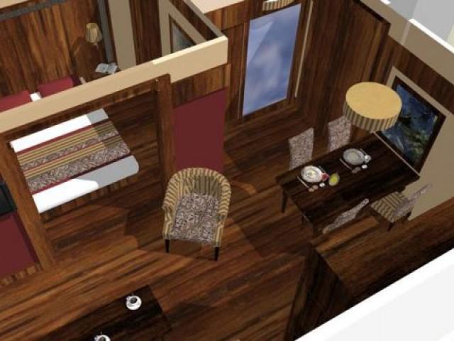 Vue d'un futur appartement témoin de 47m²  - Val Thorens Le Hameau du Kashmir