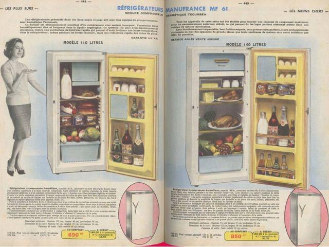 Réfrigérateurs Manufrance