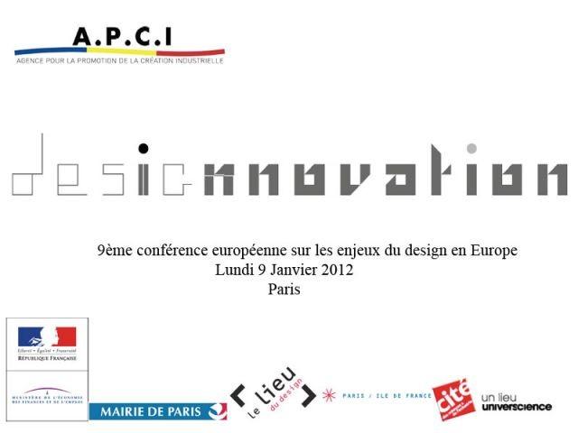 Design innovation 9 janvier 2012