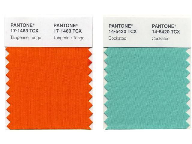Tangerine Tango + Cockatoo - Pantone - couleurs 2012