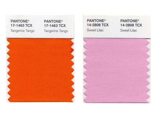 Tangerine Tango + SweetLilac - Pantone - couleurs 2012