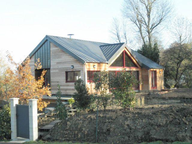 Maison en pleine verdure - Reportage maison bois