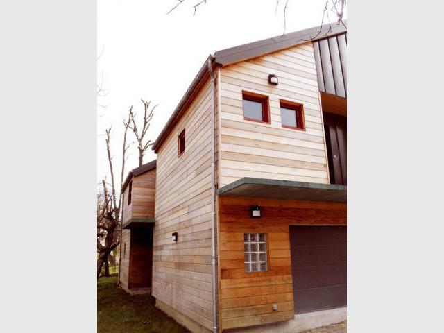 façade Nord/Ouest - Reportage maison bois