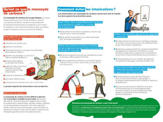 monoxyde de carbone brochure de prévention