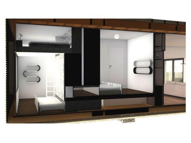 Coupe chambres - mini home
