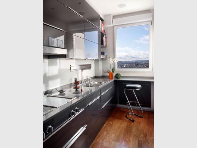 Cuisine contemporaine - Reportage appartement Abesses