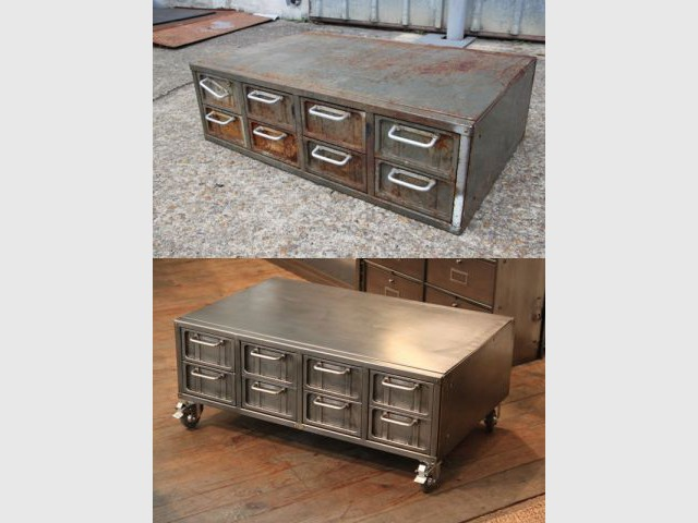 Malle tiroirs - Frédérick Plun / Atelier ADMO