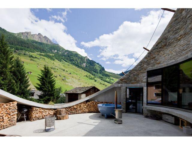 Maison de vacances - vue sur l'extérieur - 9 architectes / 9 propositions