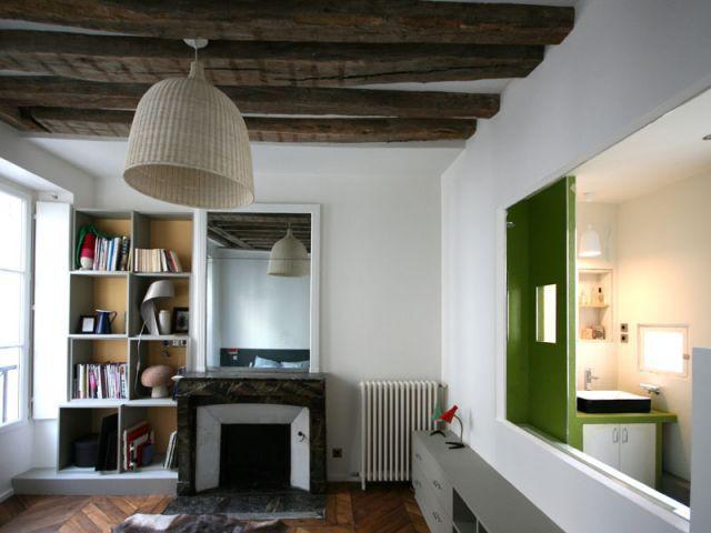 1 vieil appartement retrouve coh rence et lumi re. Black Bedroom Furniture Sets. Home Design Ideas