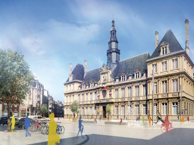 La place de l'Hôtel de Ville - Reims Métropole le choix des proximités