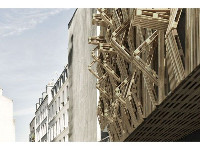 Détail façade - projet amelot