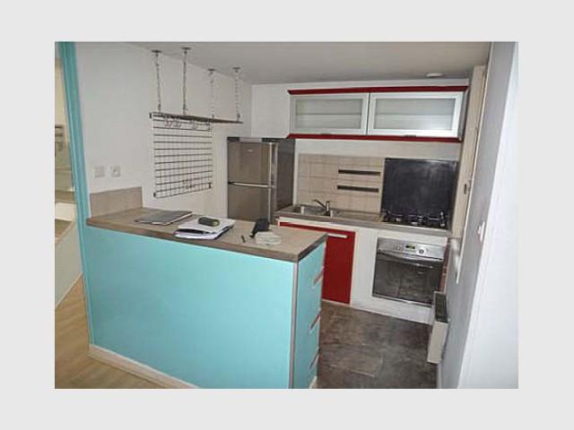Avant - La cuisine - Rénovation duplex Montpellier