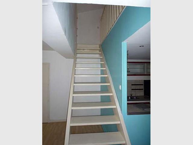 Avant - L'escalier - Rénovation duplex Montpellier