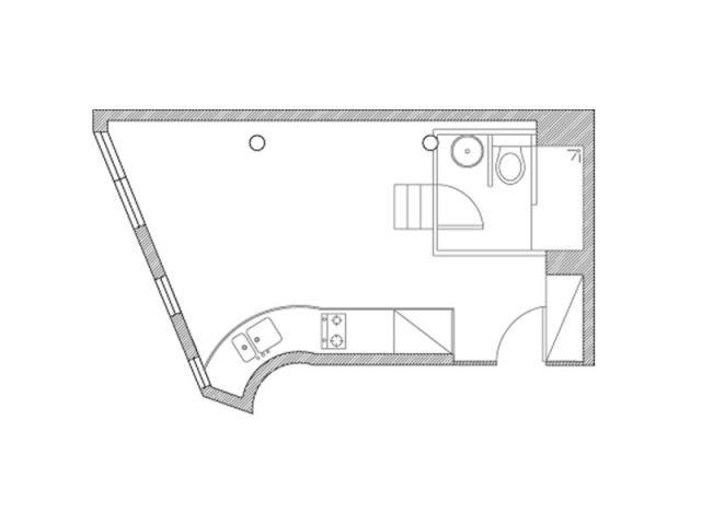 25 m2 à rénover - Salle de bains cube