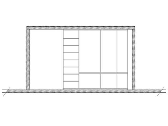 Une cuisine dans un placard - Salle de bains cube