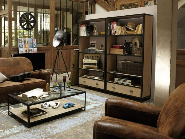 10 pi ces au look industriel. Black Bedroom Furniture Sets. Home Design Ideas