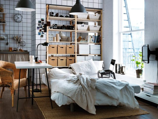 Une chambre dans un studio industriel et urbain - Ambiance industrielle