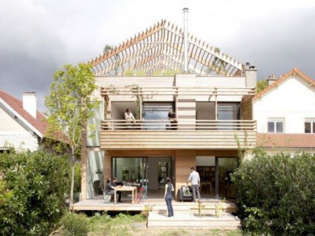 Catégorie Maison en ville  - projet bois
