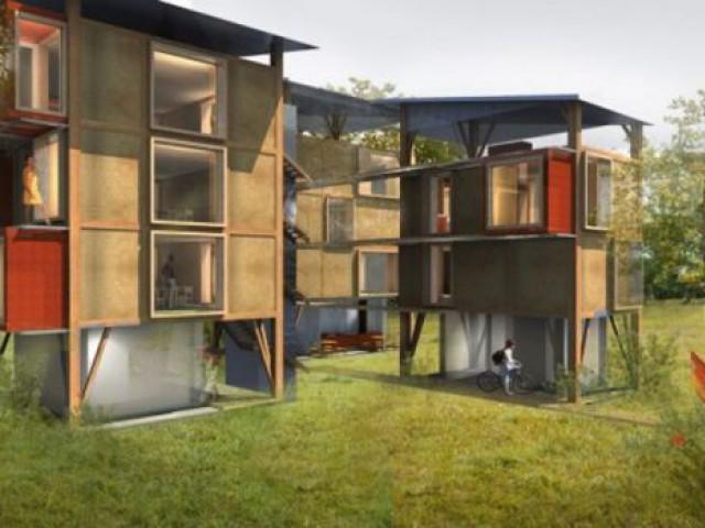 Catégorie Projets d'étudiants en écoles d'architecture Rhône-Alpes - projet bois