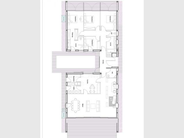 Plan villa - XLGD Architectures