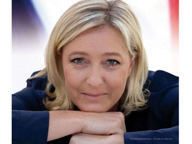 Marine Le Pen Front national affiche 2012