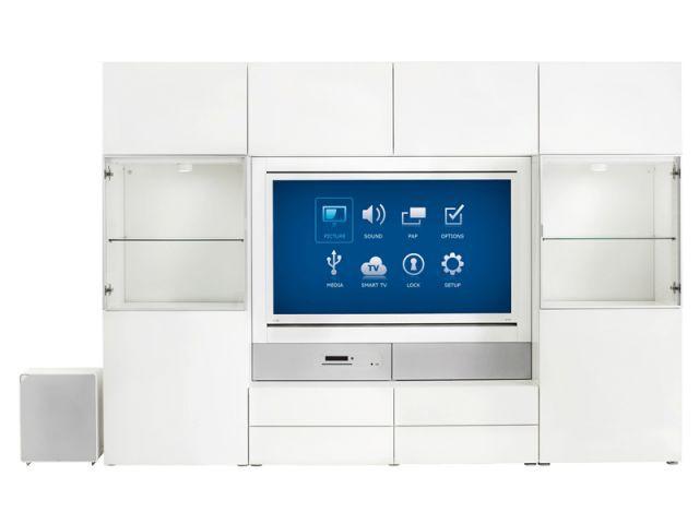 Ikea Uppleva en blanc avec rangements hauts - Ikea Uppleva
