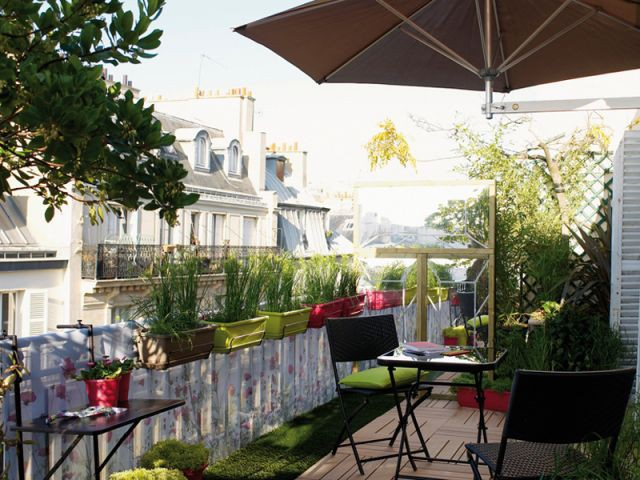 Douze am nagements possibles pour votre balcon for Amenagement terrasse exterieure appartement