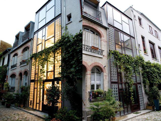 une maison verticale s 39 immisce dans la ville. Black Bedroom Furniture Sets. Home Design Ideas