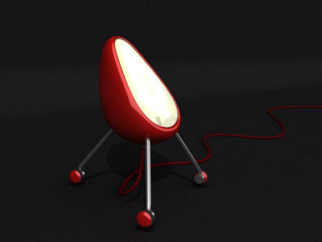 Luminaire à emporter partout - F. Knoll