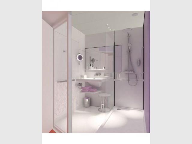 Concept salle de bains préfabriquée