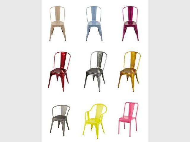 Des chaises cultes et colorées - Sélection industriel