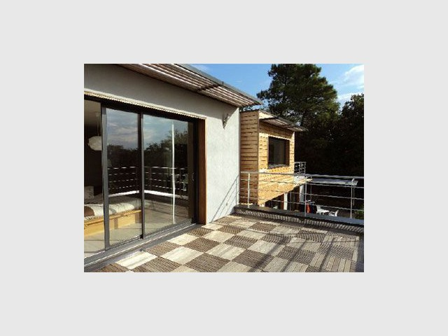 Terrasse à l'étage - Maison donabay