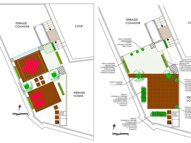 Créer plusieursrs espaces distincts - terrasse