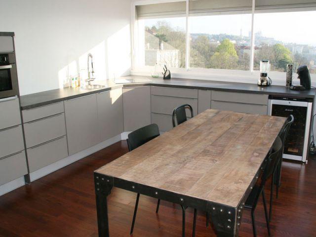 Une nouvelle disposition propice à la convivialité - Rénovation appartement à Lyon