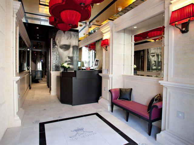 Le style Empire revisité - Hôtel Champs Elysées Mac Mahon