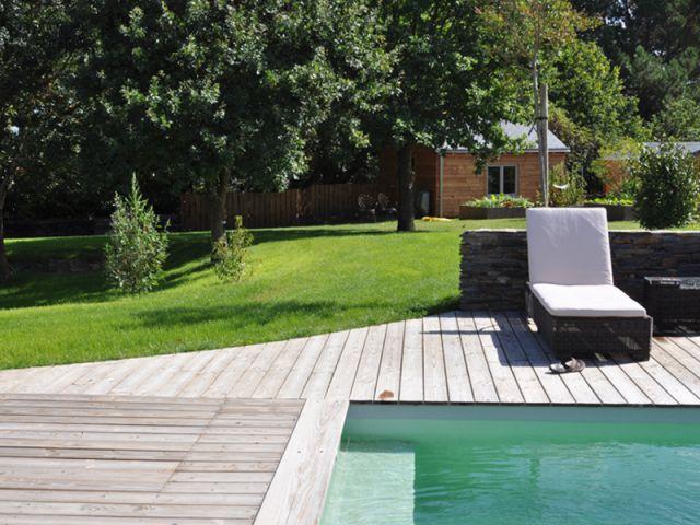 Un jardin écologique - reportage terrasse