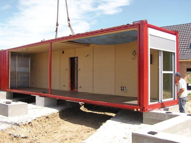 Pose du rez-de-chausée - Maison containers