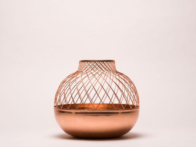 Grid Vase - Jaime Hayon / Édité par Gaia & Gino - cuivre