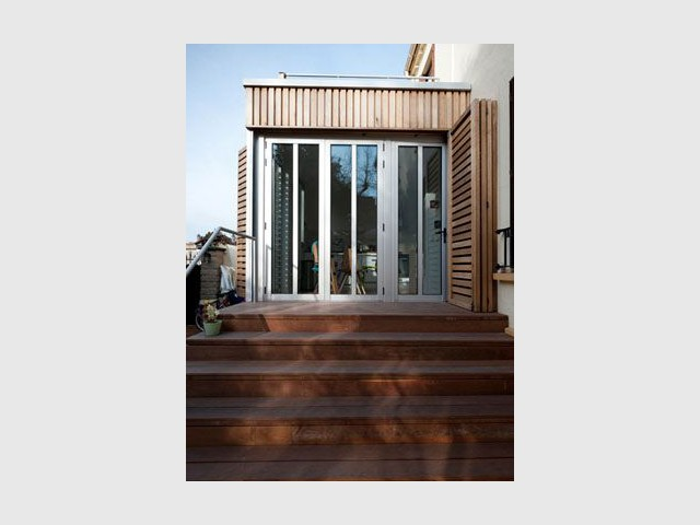 Nouvelle circulation - Reportage maison transformation bois