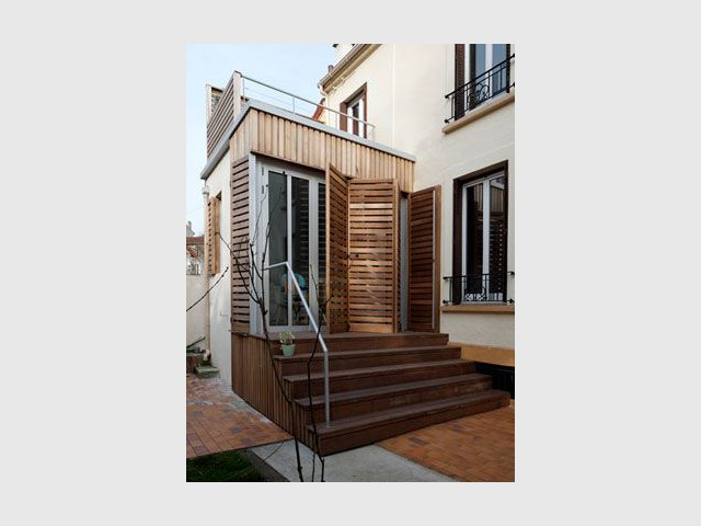 Entrée pavillon - Après - Reportage maison transformation bois