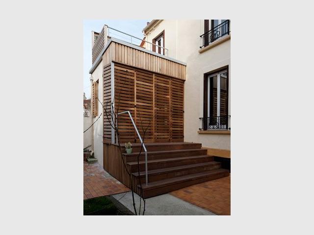 Boîte en bois - Reportage maison transformation bois