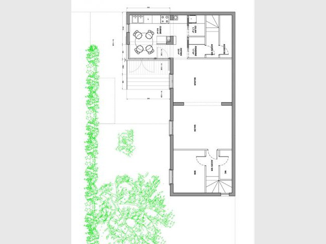Plan projet - Reportage maison transformation bois