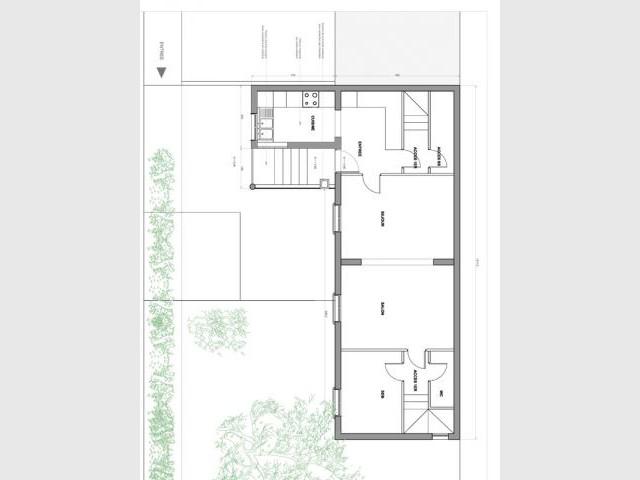 Plan existant - Reportage maison transformation bois