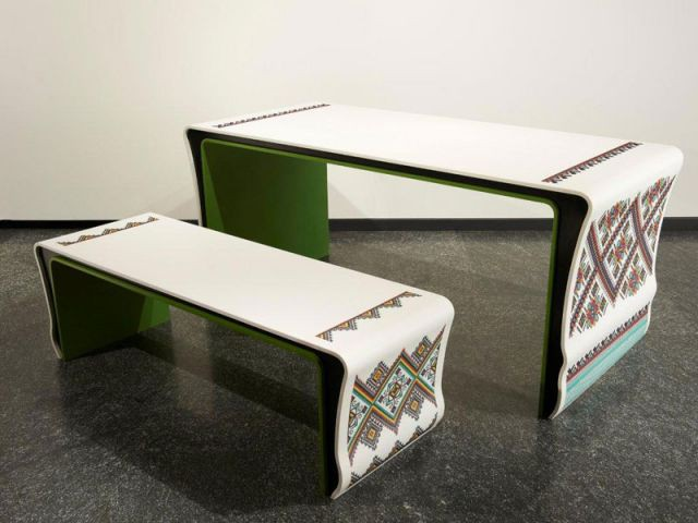 Mobilier 'Ukrainian Patterns' - DuPont™ Corian®