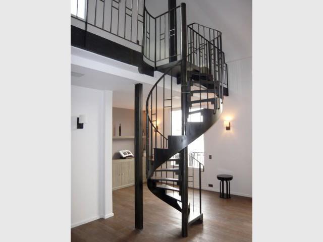 Un escalier hélicoïdal - loft