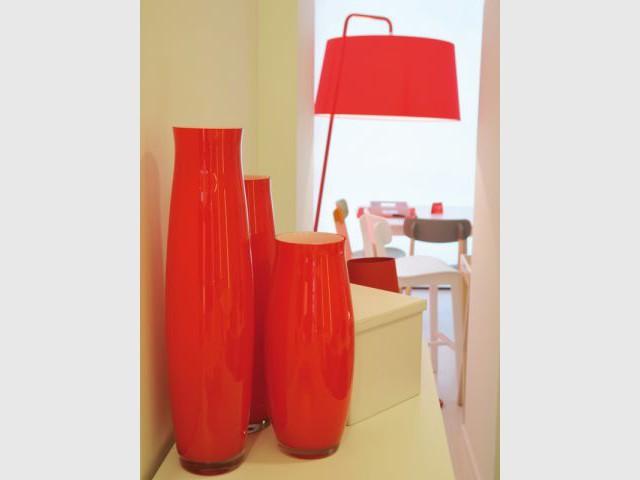 Une déco en rouge et blanc - Boutique Calligaris