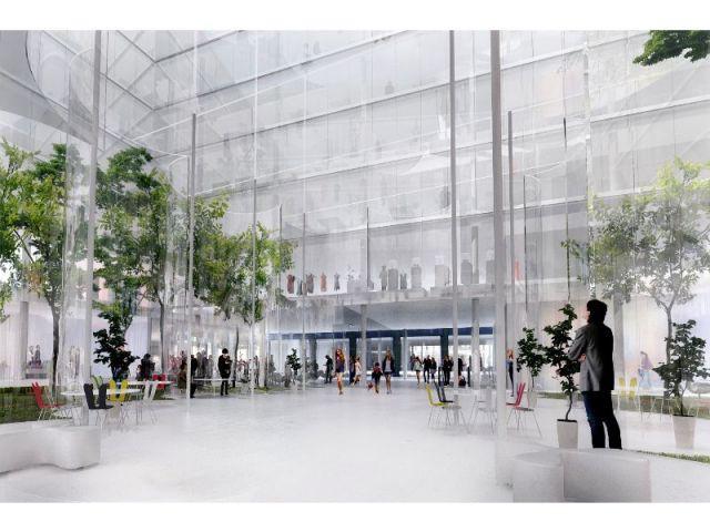 Vision de l'entrée du futur site - 96 logements sociaux à La Samaritaine