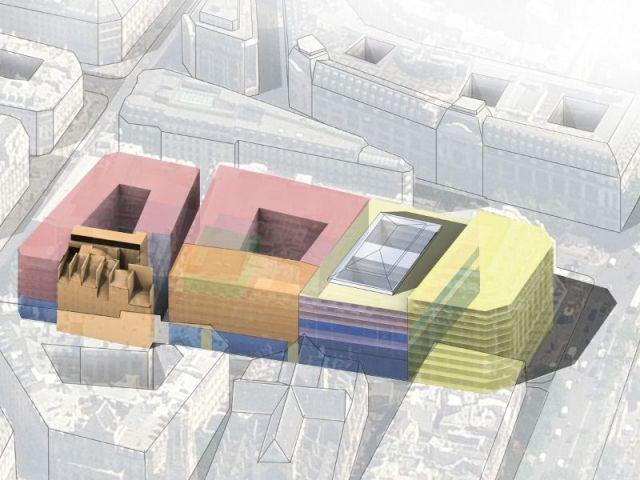 Plan du futur plateau de logements - 96 logements sociaux à La Samaritaine