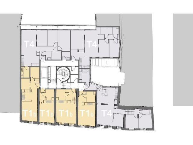 Plan des futurs logements  - 96 logements sociaux à La Samaritaine