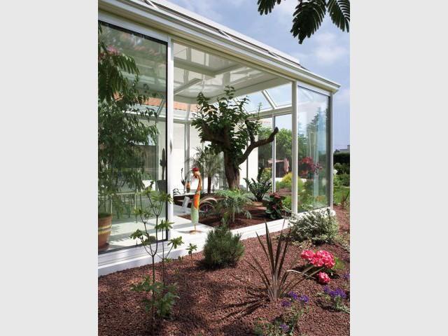 Véranda végétale - vue extérieure - Reynaers